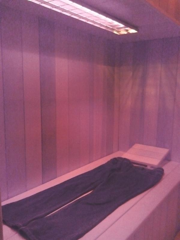 broek in sauna