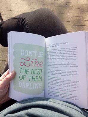 blogboek in de zon