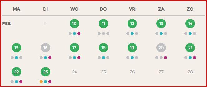Knipsel DZV week 1 en 2 kalender