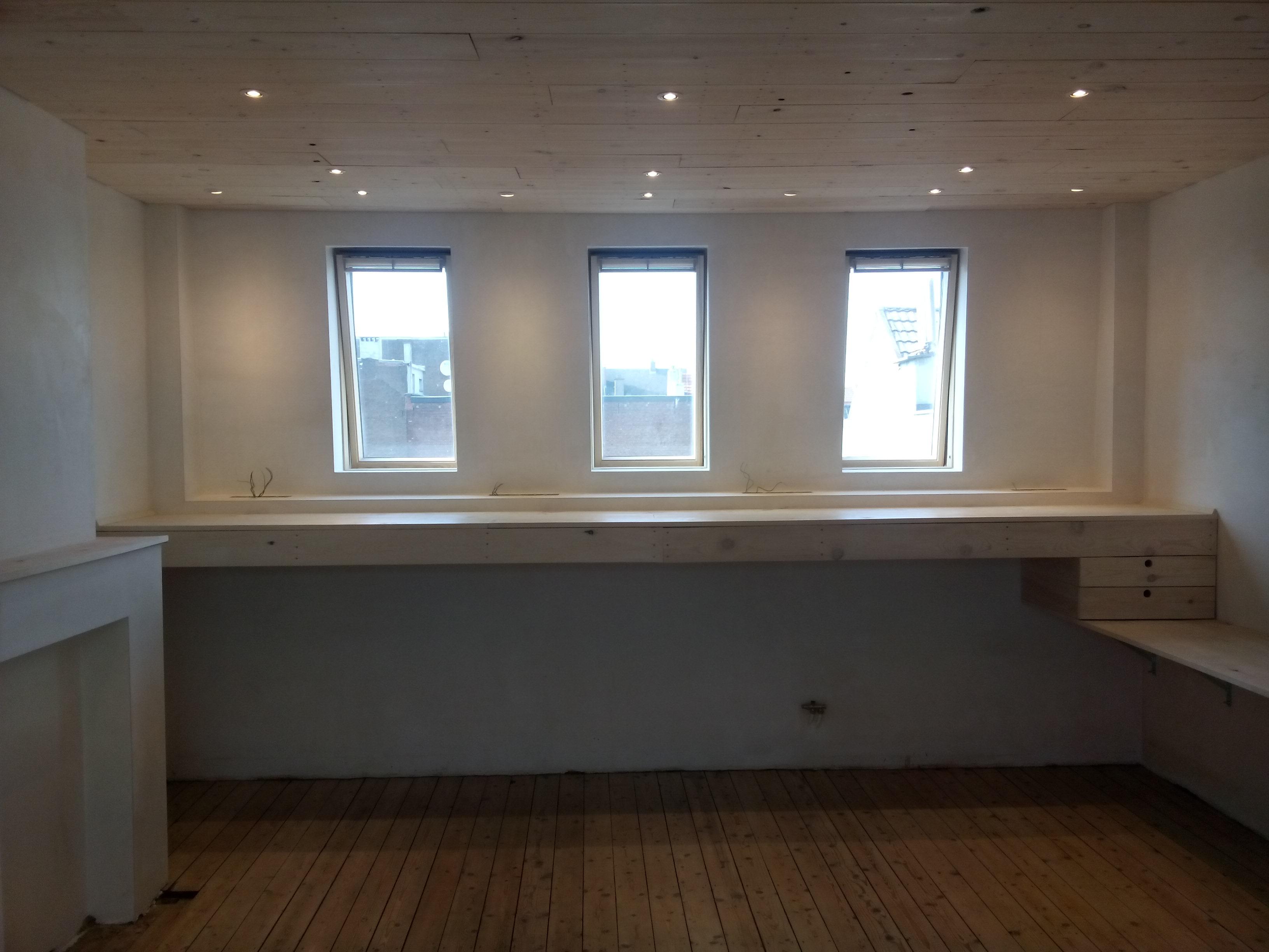 Verbouwingen: update bovenste verdieping