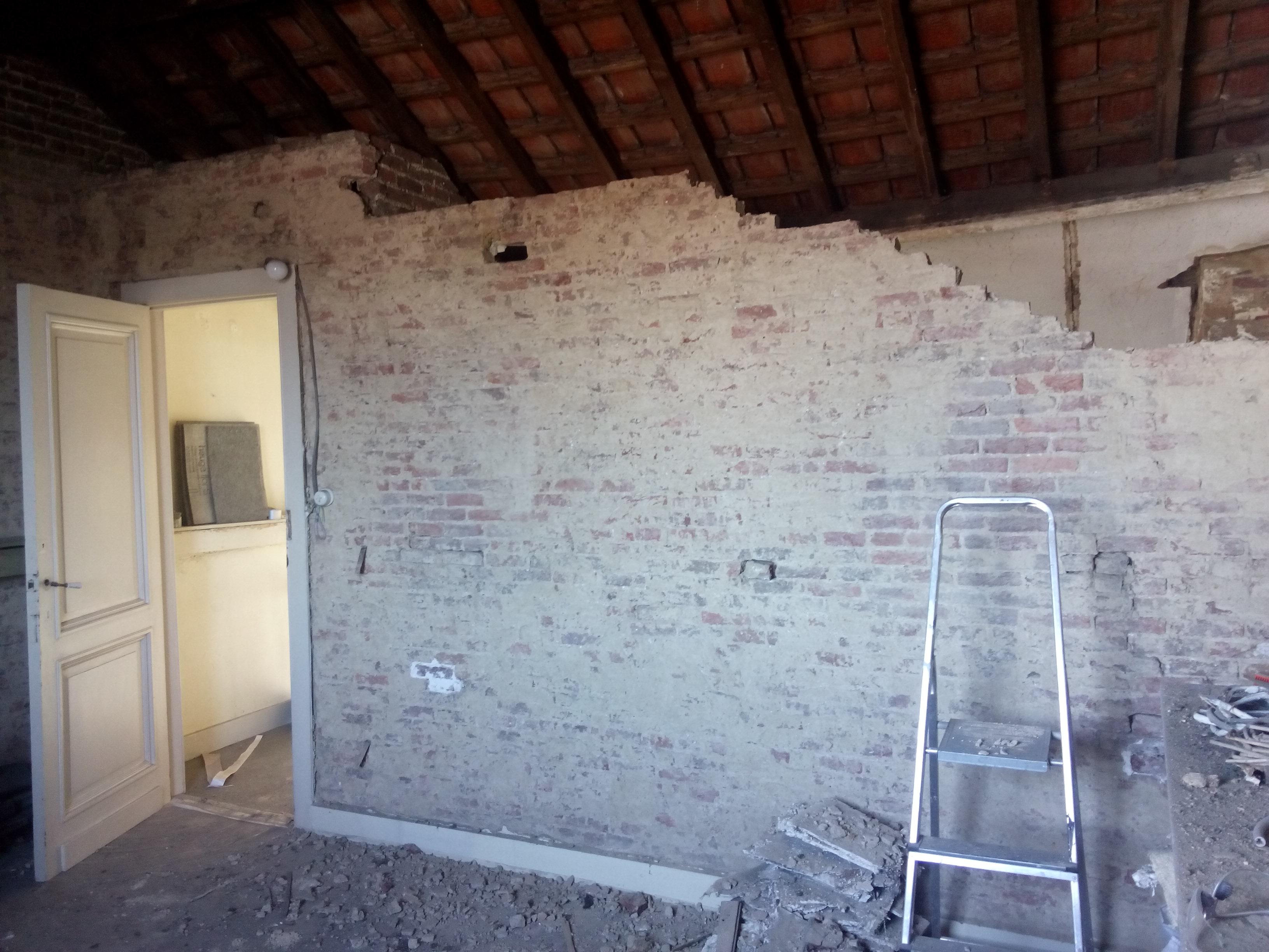zolder muurtje