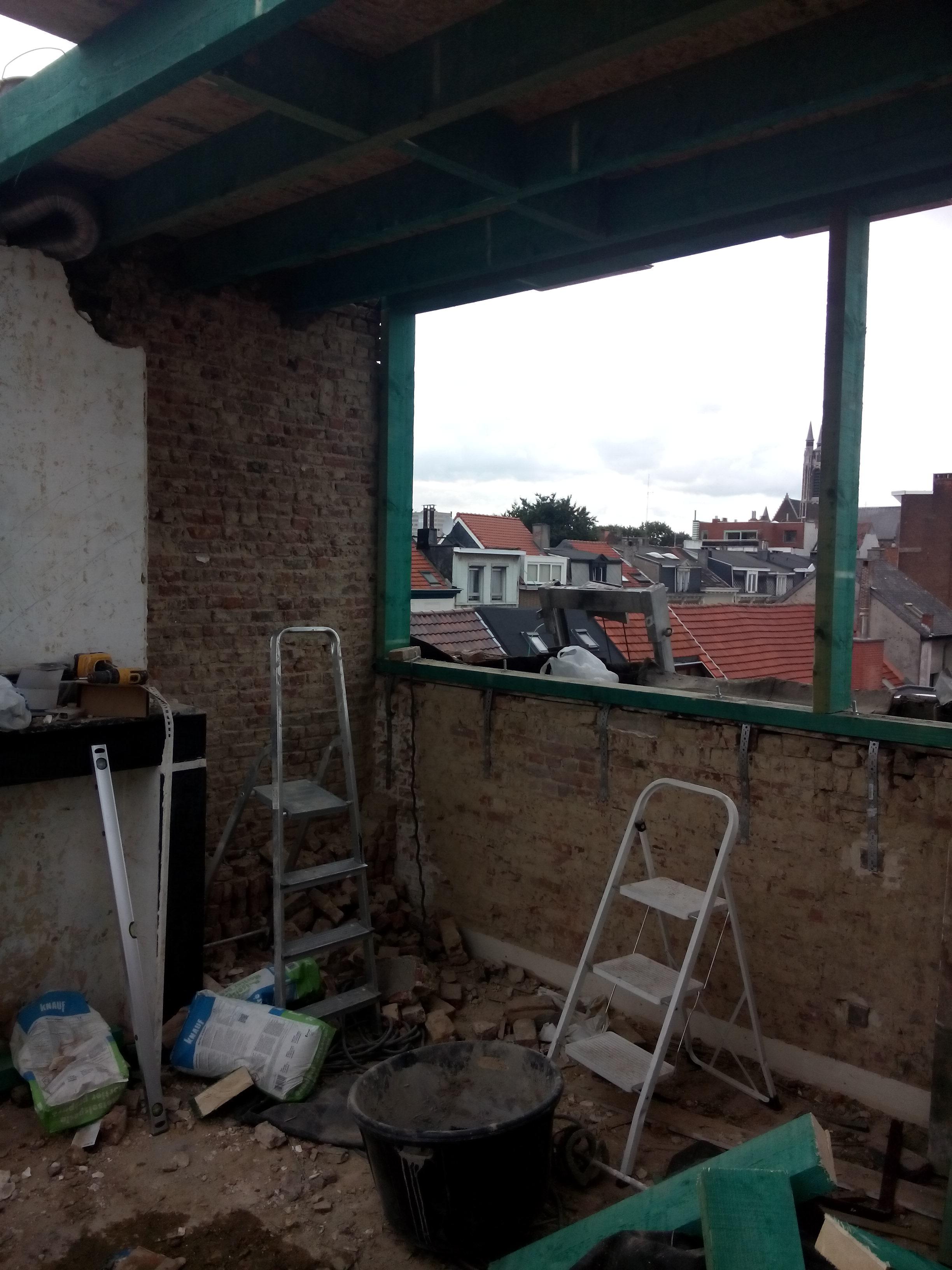 zolder opbouw dak vooraan