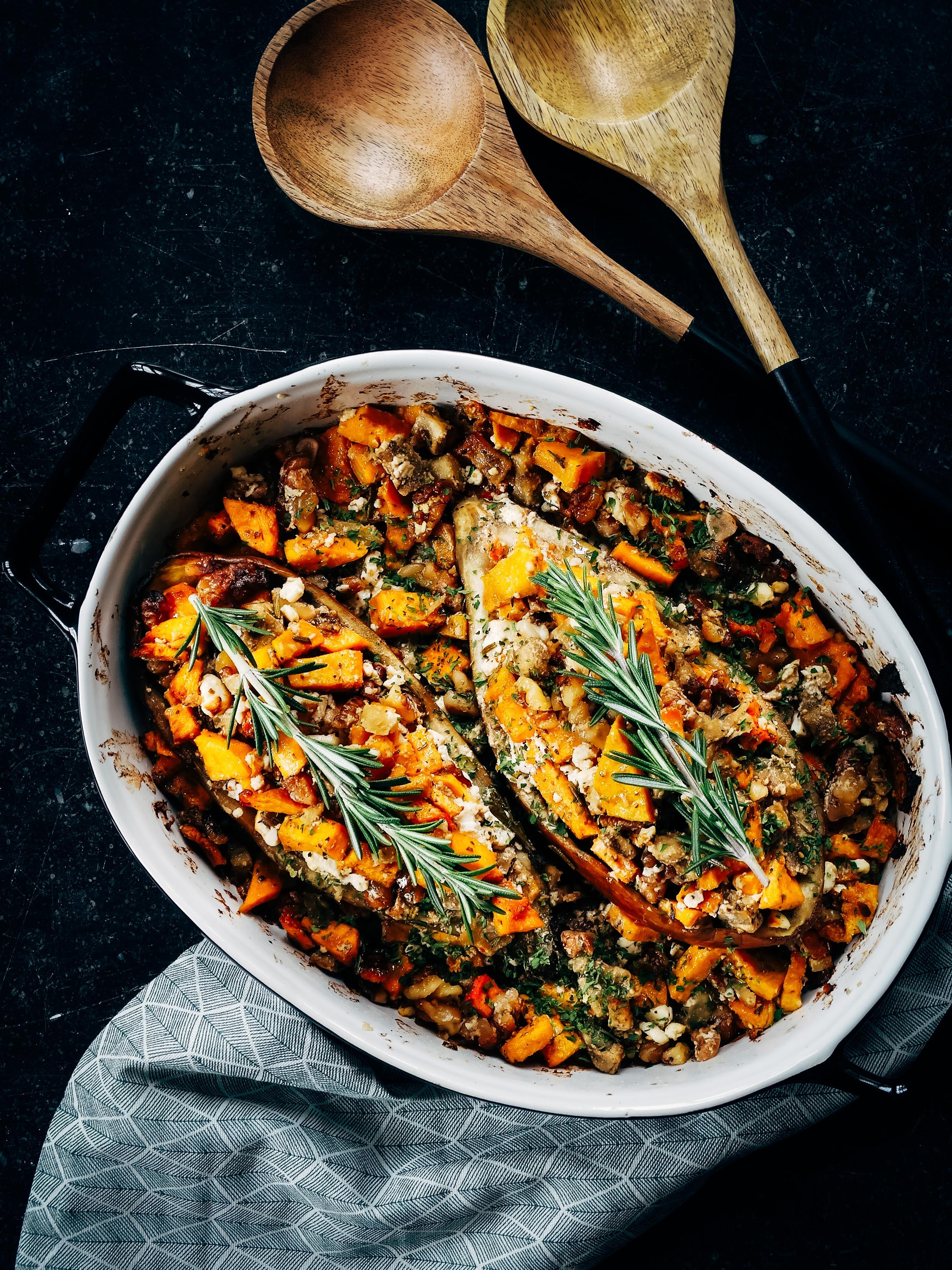 Recept van de maand #18: Aubergine gevuld met pompoen en feta
