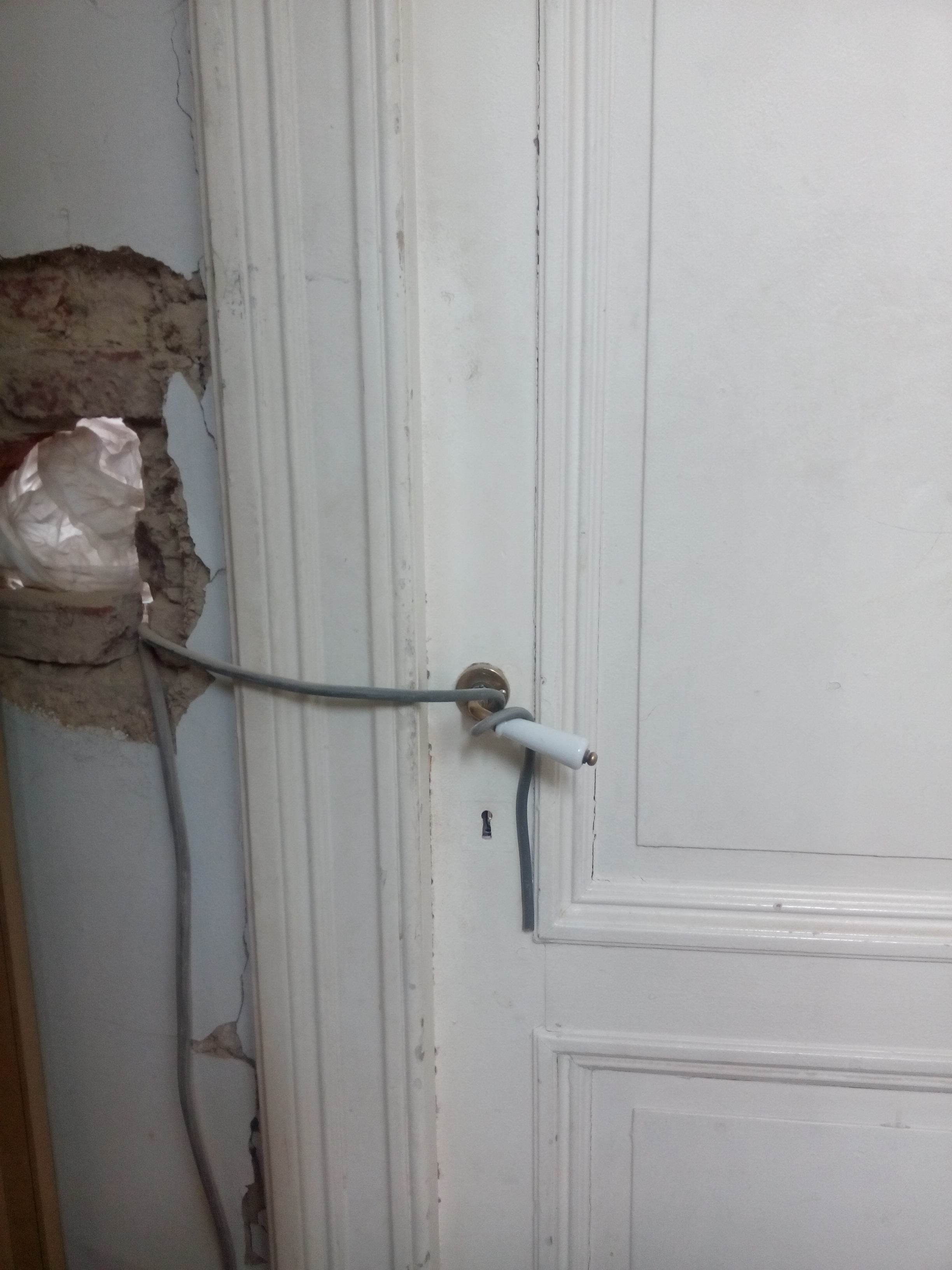 Het leven zoals het is ... verbouwingen kabel als slot