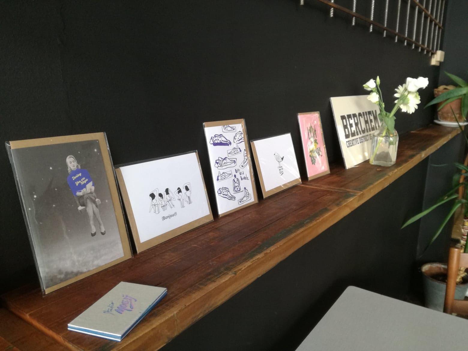 Studio Moesj kaartjes naast elkaar