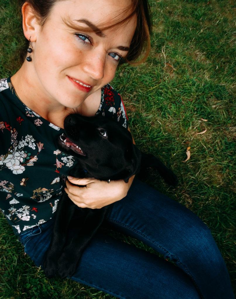 Anke Willeme met hond