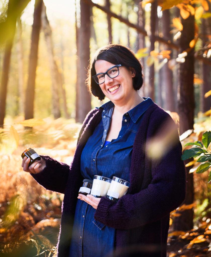 ecologische geurkaars sojawas gerhilde maakt door sophie peirsman